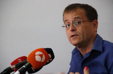 Ramón Trujillo en una rueda de prensa el pasado enero
