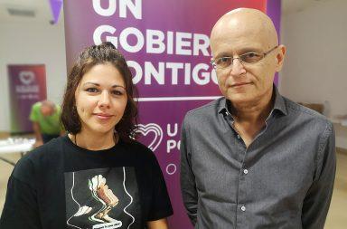 Yaiza Gorrín y Ramón trujillo, concpejales de Unidas Podemos en Santa Cruz