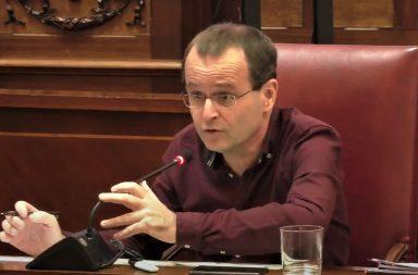 El portavoz de Unidas Podemos en el pleno
