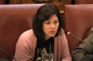 La portavoz adjunta de Unidas Podemos, Yaiza Gorrín