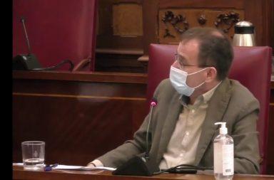 Ramón Trujillo en la comisión de control de noviembre.